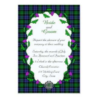 Black Watch Military Celtic Wedding 9 Cm X 13 Cm Invitation Card