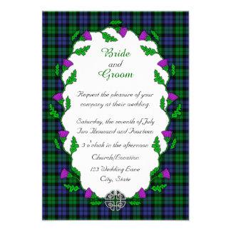 Black Watch Military Celtic Wedding Custom Announcements