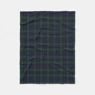 Black Watch Plaid Fleece Blanket