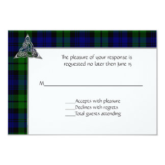 Black Watch Tartan Plaid Wedding Card