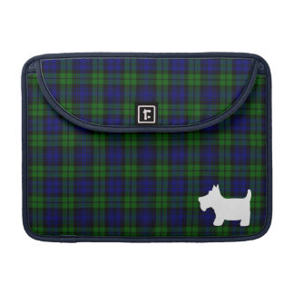 Black Watch Tartan Plaid with Scottie Dog Sleeve For MacBook Pro