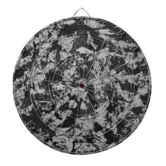 Black Watercolor on White Dartboard