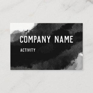 Numbered business cards zazzle au black watercolour business card colourmoves