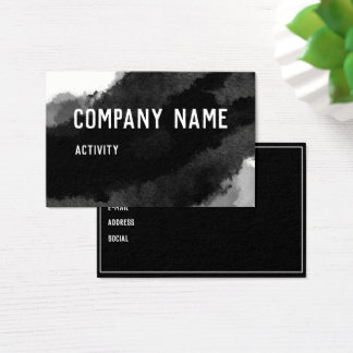 Black Watercolour Business Card