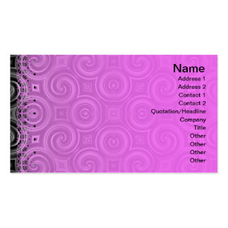 Black Waves Big Double-Sided Standard Business Cards (Pack Of 100)