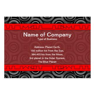 Black Waves Big Business Card