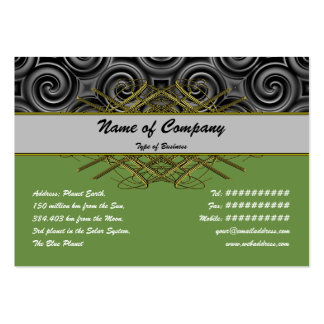 Black Waves Big Pack Of Chubby Business Cards