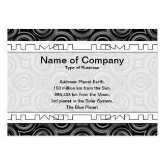 Black Waves Big Business Cards