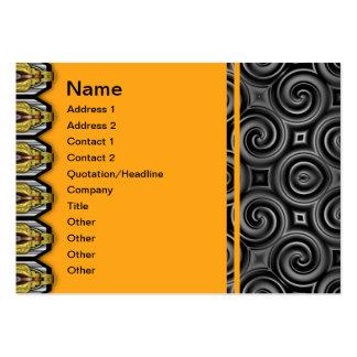 Black Waves Big Large Business Cards (Pack Of 100)