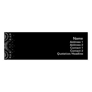 Black Waves Big Business Card Template