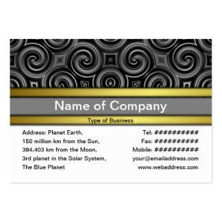 Black Waves Big Business Card Template