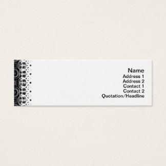 Black Waves Small Mini Business Card
