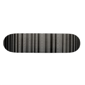 Black Wavy Lines Skateboard Deck