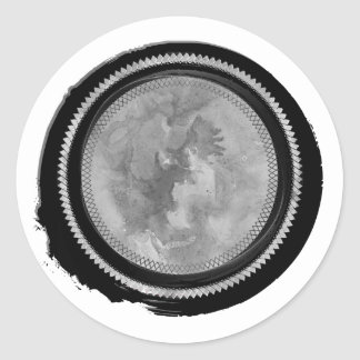 Black Wax and Gray Watercolor Opal Crest Seal