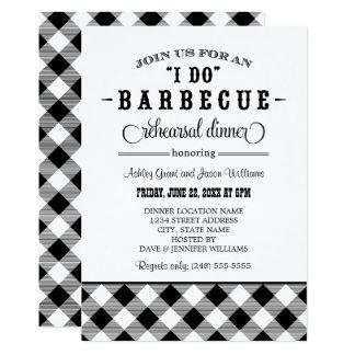 Black Wedding Rehearsal Dinner   I Do BBQ 13 Cm X 18 Cm Invitation Card