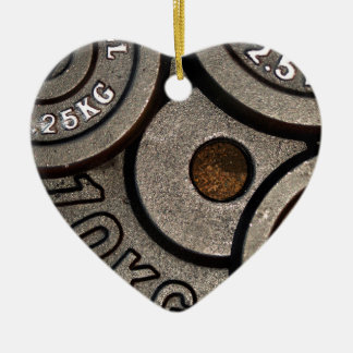 Black Weight Plates - Weightlifting Print Ceramic Ornament