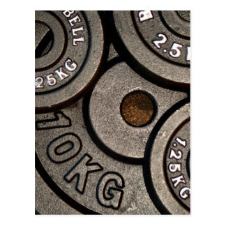 Black Weight Plates - Weightlifting Print Postcard