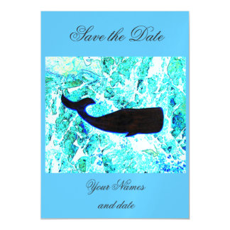 black whale blue Thunder_Cove Magnetic Invitations