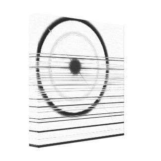 black wheel canvas print