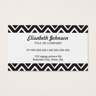 Black whimsical zig zags zigzag chevron pattern