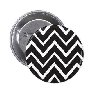 Black whimsical zig zags zigzag chevron pattern pins