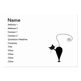 Black Whimsy Kitty 5 Pack Of Chubby Business Cards