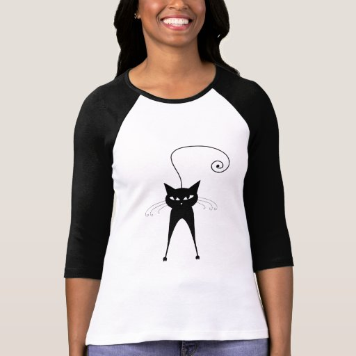 Black Whimsy Kitty 6 Tees