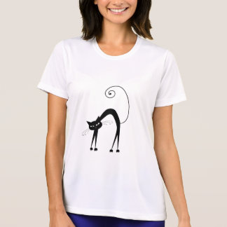 Black Whimsy Kitty 9 T-Shirt