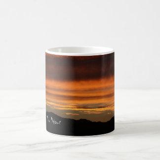 Black/White 11 oz Morphing Mug PHOTOGRAPH OF ORANG