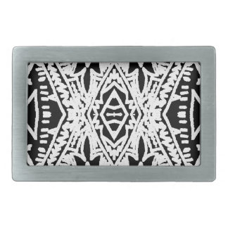 Black/White Abstract #1 Belt Buckle