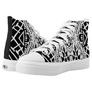 Black/White Abstract #1 High Tops