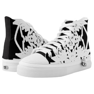 Black/White Abstract #2 Printed Shoes
