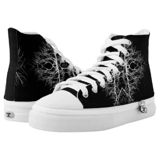Black/White Abstract #5 Printed Shoes