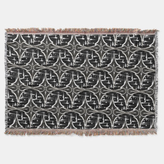 BLACK WHITE ABSTRACT HAVIC ACD THROW BLANKET