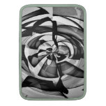Black & White Abstract Overload Sleeve For MacBook Air