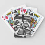Black & White Abstract Overload Bicycle Poker Cards