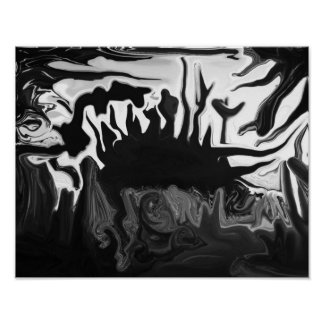 Black & White abstract poster