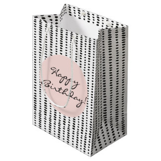 Black & White Abstract Print Birthday Gift Bag