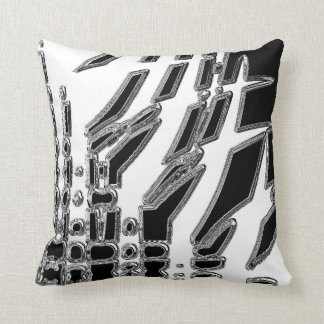 Black White Abstract Throw Pillow