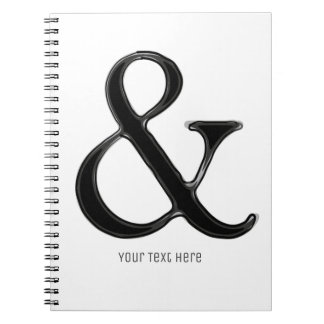 Black & White Ampersand Chic Modern Personalized Notebook