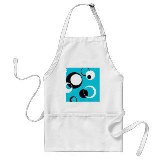 Black white and Blue Circles Standard Apron