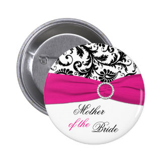 Black, White, and Fuchsia Mother of the Bride Pin