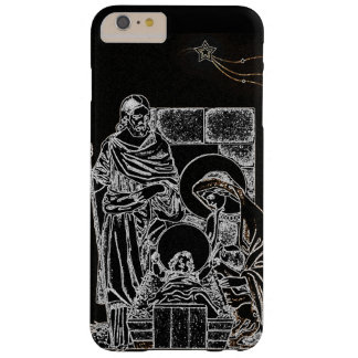 BLACK WHITE AND GOLD NATIVITY BARELY THERE iPhone 6 PLUS CASE