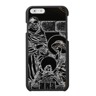BLACK WHITE AND GOLD NATIVITY INCIPIO WATSON™ iPhone 6 WALLET CASE