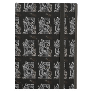 BLACK WHITE AND GOLD NATIVITY iPad AIR CASE