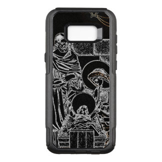 BLACK WHITE AND GOLD NATIVITY OtterBox COMMUTER SAMSUNG GALAXY S8+ CASE