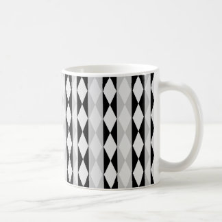 Black White And Gray Diamond Pattern Coffee Mug
