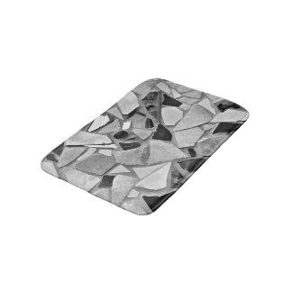Black, White And Gray Terrazzo Photo Art Bath Mat
