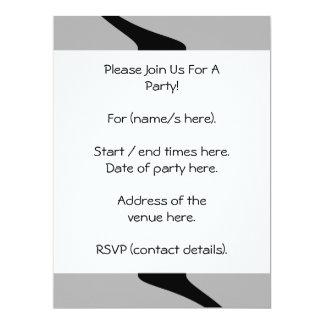 Black, White and Gray Twist Design. 17 Cm X 22 Cm Invitation Card