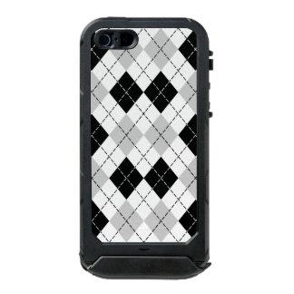 Black White and Grey Argyle iPhone 5 Case Incipio ATLAS ID™ iPhone 5 Case